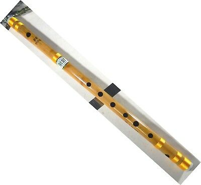 "Indian Handmade Professional Bamboo Flute Scale ""ff"" Bansuri Musical Woodwind"
