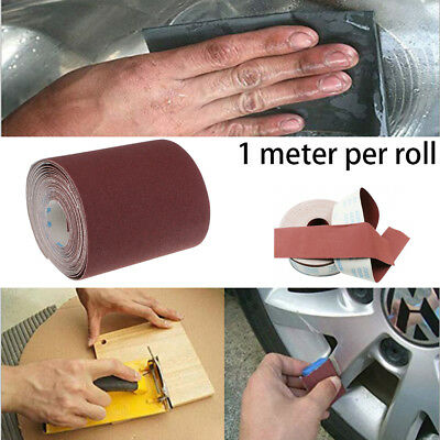 Hand Tear 1M  80-800 Grit  Sandpaper Emery Cloth Roll Grinding Polishing Tools