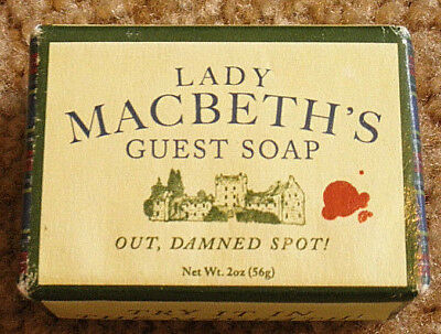 Lady Macbeth's Out, Damned Spot! Guest Soap 2 oz. Bar