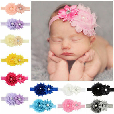12pcs Girl Baby Toddler Infant Cute Flower Headband Hair Bow Band Accessories