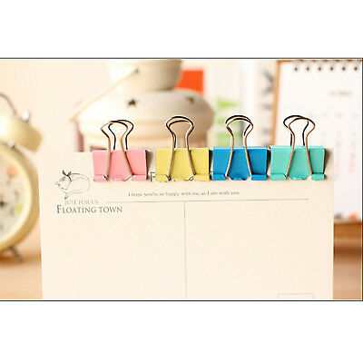 Metal Binder Clip 19/32/41/51MM Office File Ticket Paper Clips Holder Organizer