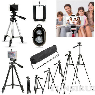 Professional Camera Tripod Stand Holder+Bluetooth Remote+Bag for DSLR Camcorder