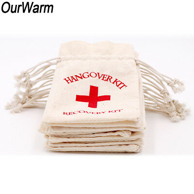 50x Hangover Kit Bag Wedding Bachelorette Hen Party Brial Shower First Aid Favor