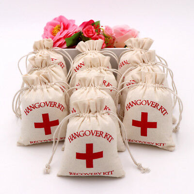 50x Hangover Kit Gift Bag Brial Shower Bachelorette Hen Party First Aid Supply
