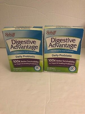 Lot Of 2 Digestive Advantage Daily Probiotic Capsules - 30 Ct. Exp. 01/2020+