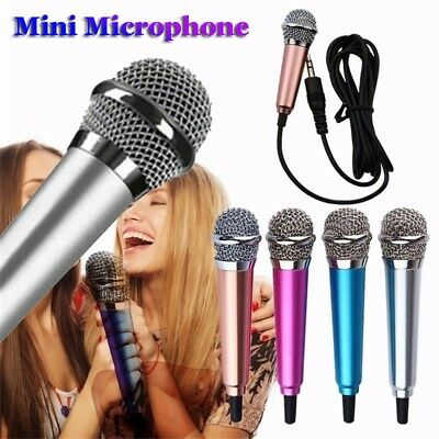 3.5mm Wired Mini Microphone Condenser Karaoke For Computer Android Smartphones