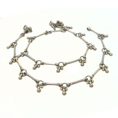 Vintage Look Hand Crafted Antique Old Silver Ethnic Tribal Asian Anklets