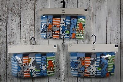 GAP Baby Boys Underwear Briefs Days of the Week 2-3 Years New With Tags 7-Pack