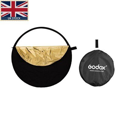 "UK Godox 5in1 110cm 43"" Light Diffuser Round Reflector Disc+Carrying Bag"