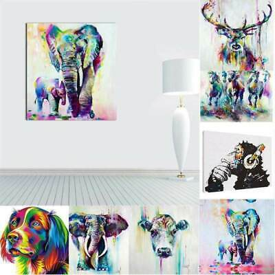 AU Unframed Animal Figure Art Oil Painting Canvas Picture Wall Decor Poster HOT