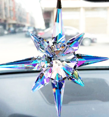 New Sale 2018 Swarovski Crystal Rainbow Star Aurora Borealis CHRISTMAS ORNAMENT