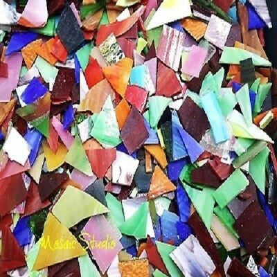 1 Kg Stained Glass Opaque Glass - Mixed Colours
