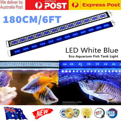 180CM Aquarium LED Lighting 6ft Marine Fresh Fish Tank Light Blue White Light AU