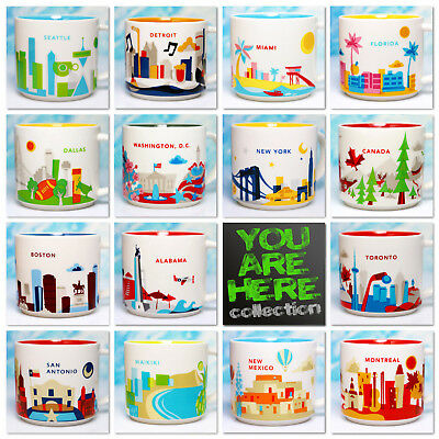 ++ STARBUCKS City mug + USA + CANADA + NEU + SKU + YAH + YOU ARE HERE + NEW +