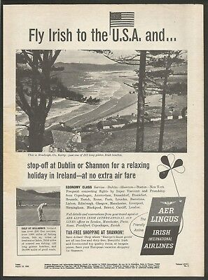 AER LINGUS - Irish International Airlines - 1960 Vintage Print Ad