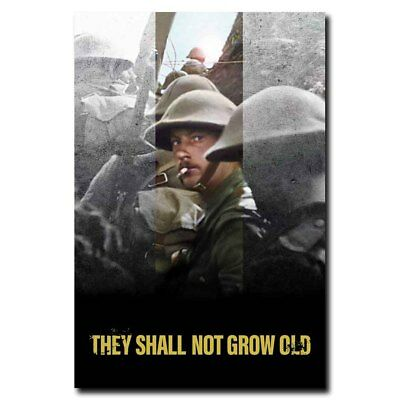 They Shall Not Grow Old 12x18 24x36inch Movie Silk Poster Wall Decals