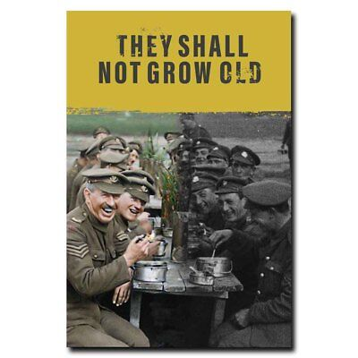 They Shall Not Grow Old 24x16 24x36inch Movie Silk Poster Door Room Decal