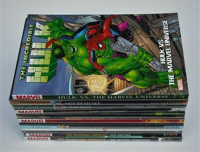 Marvel Comics Graphic Novels Lot Of 25 Books Hulk Spider-Man X-Men New