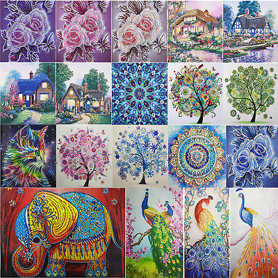 5D DIY Special Shaped Diamond Painting Embroidery Cross Stitch Kits Flower Decor