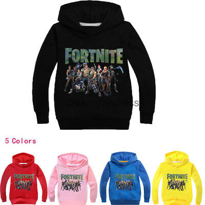 New 100-160cm Hot Kids Fornite Hoodie Boys Fortnight Gamer Girls suits Best gift