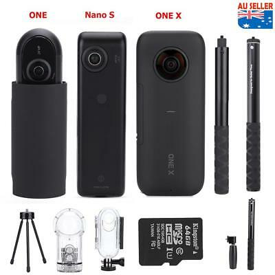 Insta360 ONE X Panoramic Camcorder+Housing Case+Selfie Stick Bullet Time Handle
