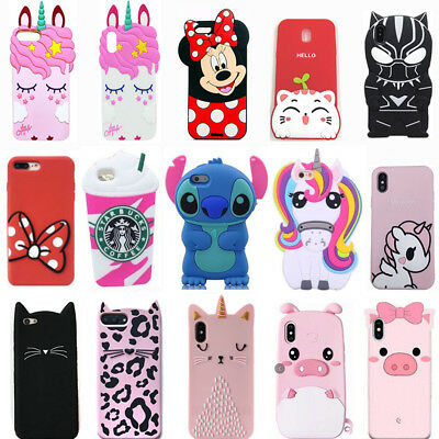 For Samsung Galaxy S4 S5 S6 S7 S8 S9 Plus New Hot 3D Cute Soft Phone Case Cover