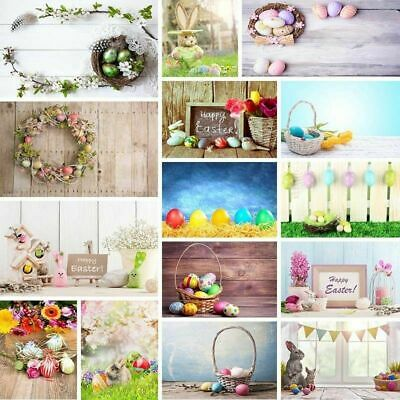 AU Easter Day Theme Vinyl Photo Background Studio Photography Backdrop 3x5/5x7ft