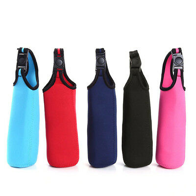 Water Bottle Carrier Insulated Cover Bag Holder Drink Strap Sport  Case LI