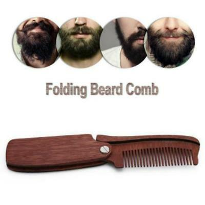 Men's Comb Wooden Folding Travel Pocket Hair Moustache Beard Comb LI