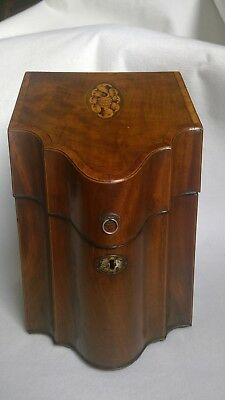 Antique George III Mahogany Knife Box, 1760-1820.  Good restored condition.