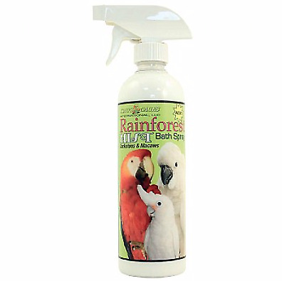 Rainforest Mist for Cockatoos & Macaws Prevent Feather Plucking Bath - 17oz NTO