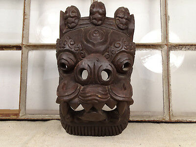 R5116 Carved, Asiatic Mask ~ Asian~ Wooden Mask~Indonesia