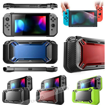 For Nintendo Switch Hybrid Protective Rubberized Case Hard Cover +Soft Screen