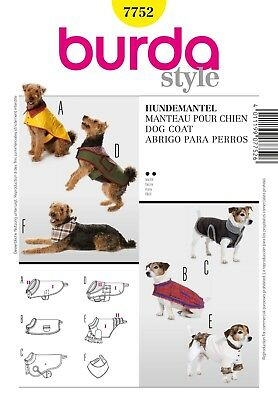 Sewing Pattern Burda Dog Coat & Accessories 7752