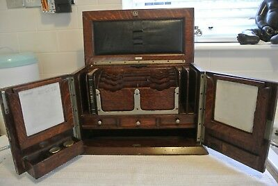 Antique Stationary Campaign Stationary Cabinet