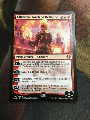 Torch of Defiance Emblem #3 Custom Altered MTG Kaladesh 1x Chandra