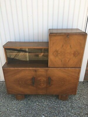 vintage writing bureau and drinks Cabinet