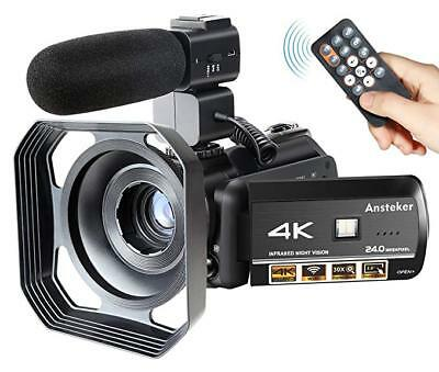 Camcorder 4K Wifi Ansteker Ultra-HD Digital Camera Video 1080P 13MP 30FPS IR ...