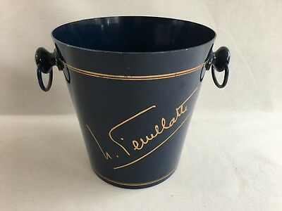 Vintage French Champagne Wine ice bucket cooler aluminium Nicolas Feuillatte