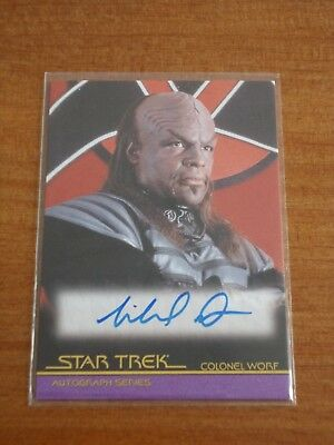 Quotable Star Trek Movies A96 Michael Dorn as Colonel Worf Autograph Auto Card