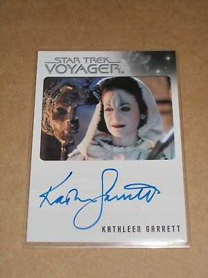 Star Trek Quotable Voyager Kathleen Garrett as Tanis autograph MINT