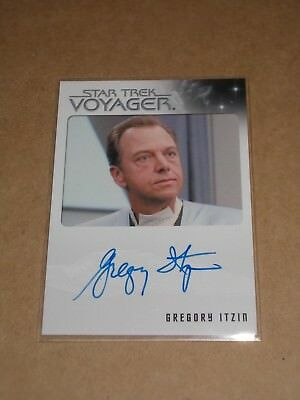 Star Trek Quotable Voyager Gregory Itzin as Dr. Dysek autograph MINT
