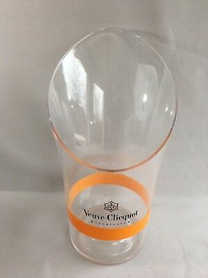 "French acrylic Champagne wine cooler ice bucket Veuve Clicquot Ponsardin ""Rich"""