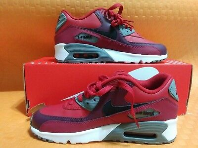 f1f68e2f20 YOUTH SIZE NIKE Air Max 90 Leather (Gs) 833412-601 Gym Red/Black ...