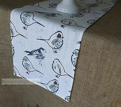Country Cottage Table Runner Bird Farmhouse Home Decor Dining Room Centerpiece