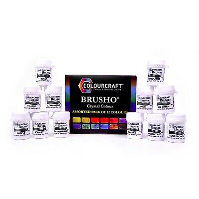 Brusho - 12 x 15g colours - Artist's colour - Non Toxic