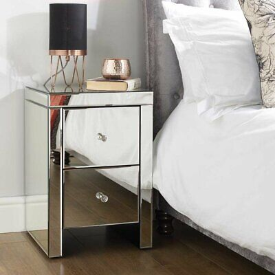 Gfw 2 Drawer Mirrored Bedside Table Eur 112 05 Picclick Fr
