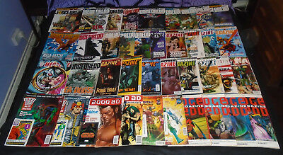 40 X Judge Dredd / The Megazine Comics. Joblot, Collection, Bundle UK Comic
