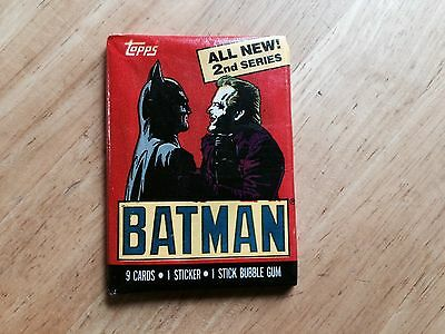 Unopened Pack Of 1989 Topps Batman Series Two Trading Cards 2Nd The Joker Dc