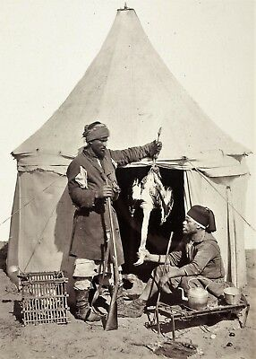 "Photographie, Maghreb ancien, ""Le chasseur"", 1901  /  15 x 20 cm /  6 x 8 inches"